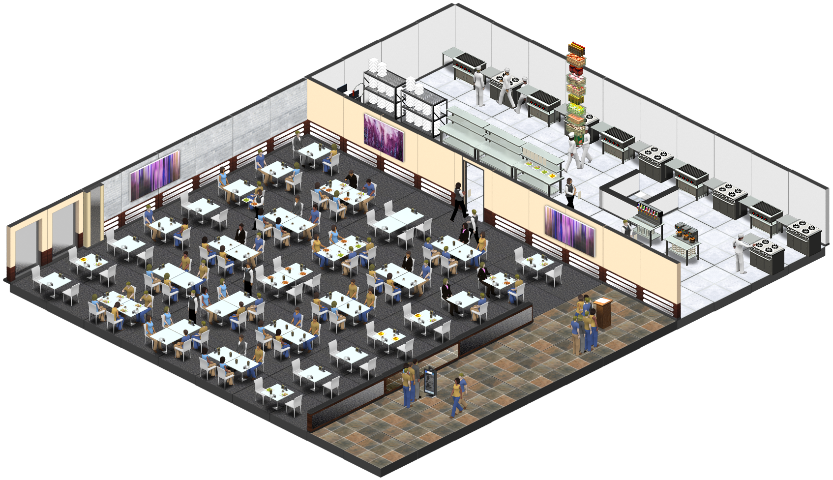 A completely upgraded Virtual Business Restaurant is now available!