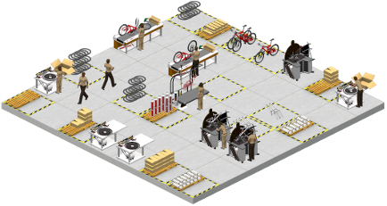 Interactive online business management simulation for high school
